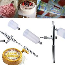 Gravity Feed Dual Action Airbrush Paint Spray Gun Kit for Cake Decorating NEW