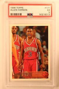 1996 Topps  Allen Iverson # 171 RC Philadelphia 76ers Rookie PSA 5