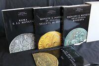 LA MONETA A ROMA E IN ITALIA. 3 volumi. Silvana Balbi De Caro. Banca D'Italia.