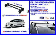 Barre Portatutto Portapacchi Acciaio - Fiat 500 L Living 5pt 2015> Menabò Tema