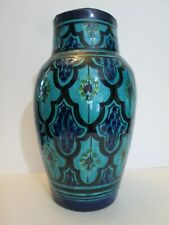 """Moroccan Safi Hand Painted Ceramic Pottery Vase Middle East 10"""""""
