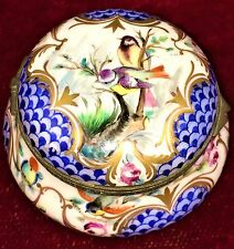 TRINKET-BOX. PORCELAIN HAND POLICHROMED AND GILDED. STYLE SEVRES. FRANCIA.XIX