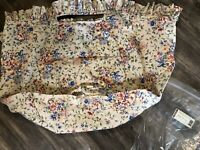 Longaberger Work Around Pot Of Gold Basket Spring Floral Fabric OE Liner NEW