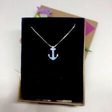 Opal Stimulant Pendant with 925 Silver Chain: Bon Voyage Anchor