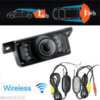Car Reverse Rear View Backup Camera 7 IR Night Vision Parking Cam 2.4G Wireless