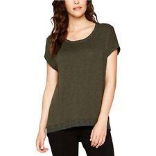 NWT Matty M Women's Short Sleeve Zipper Back High Low Sweater Shirt Top Variety
