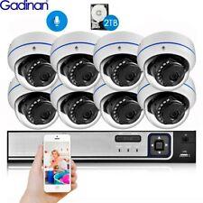 8CH CCTV NVR Kit System 4.0MP POE Audio Dome IR POE IP Camera Surveillance Set