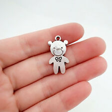 4 pcs Baby Bear Tibet silver Charms Pendants DIY Jewellery Making crafts
