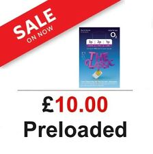 £10 POUNDS PRELOADED O2 PAY AS YOU GO SIM CARD WITH £10 CREDIT. DEAL OFFER NEW