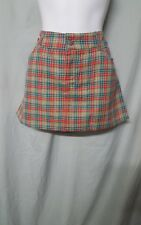 MASCARA MULTICOLOR SHORT PLAID MINI SKIRT SUMMER / COVER UP SIZE 18
