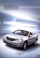 2008 Chrysler Sebring 36-page Original Car Sales Brochure Catalog - Convertible