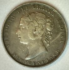 1898 Canada Newfoundland 50 Cents Silver VF 50c Coin Half Dollar Very Fine