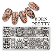 BORN PRETTY Nail Art Stamp Plate Manicure Image Template Floral Pattern BP-L052