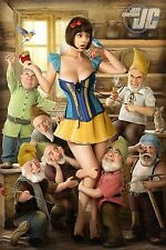 "Art Design Girl-Snow White Fabric poster 36"" x 24"" Decor 24"