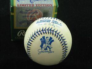 1998 OAL Budig Joe DiMaggio Day Game Ball w/ Box blue stitch New York Yankees