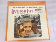 Live For Life Francis Lai Soundtrack Still Sealed  LP