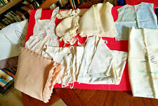 Lot Vintage Antique Baby Blanket Cap Booties Sheet Tops Handmade Missouri 1940s