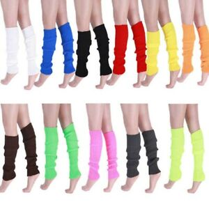 Stylish Women Girls Warm Thick Knit Crochet Long Boot Socks Leg Warmer Legging