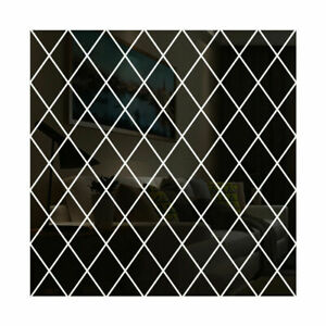Rhombus Mosaic Background Wall Mirror Wall Sticker Acrylic Mirror Deco Sticker