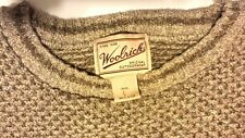 Woolrich Mens Long Sleeve Crew Neck Cotton Acrylic Beige Sweater Large