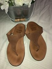 Fit Flop Leather Casual Comfort Flip Flop Sandals Women's Sz 7