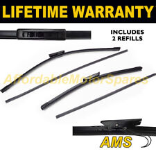 """FRONT AERO WIPER BLADES PAIR 24"""" + 16"""" FOR RENAULT MEGANE III SALOON 2009 ON"""