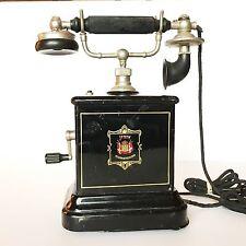 Vintage Danish JYDSK Telefon Aktieselskab Desktop Handcranked Telephone DENMARK