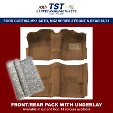 MOULDED CAR CARPET (F04) FORD CORTINA MK1 AUTO, MK2 SERIES 2 FRONT & REAR 68-71