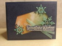 Stampin Up SNOWFLAKE Wishes * MERRY CHRISTMAS* HOLIDAY CARD KIT, **NIGHT SKY**