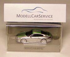 Minichamps 1/87: 870066225 Porsche 911 R (2016), Silver with Green Strips