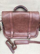 VINTAGE EDDIE BAUER brown leather Briefcase/Messenger/Shoulder Lap Top Bag