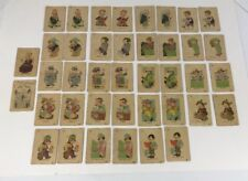 Vintage Antique Old Maid Cards Red Indian