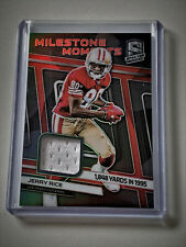 2019 Jerry Rice 49ers Spectra Football Milestone Moments Jersey Relic /99 Panini
