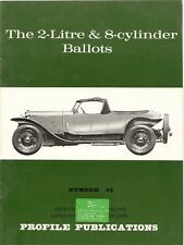PROFILE PUBLICATIONS No93 THE 2-LITRE & 8-CYLINDER BALLOTS