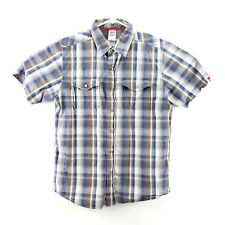 The North Face Mens 100% Cotton Short Sleeve M Button Up Pearl Snap Button Shirt