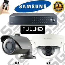 SAMSUNG 16 TELECAMERA CCTV Dome & Bullet Kit & 16 Channel DVR e l'1080p Plug & Play