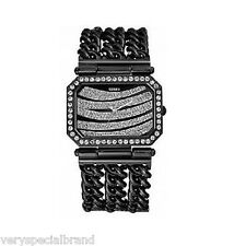 Guess Glitz Pave Dial Black Stainless Steel Watch 12538L1