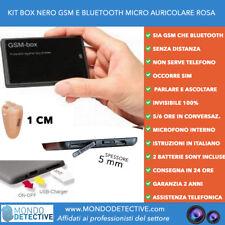 Microauricolare micro auricolare invisibile spy spia SIM 3g GSM e Bluetooth NEW