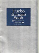 SAAB 900 Turbo 1980 MERCATO ITALIANO 16 PAGINA BROCHURE DI VENDITA