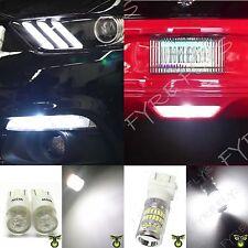 White LED side marker parking light & reverse back up light for 2015-17 Mustang