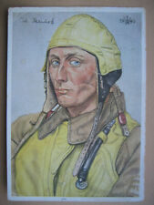 Luftwaffe Pilot postcard Willrich artwork WW2 Cartolina tedesca Rare