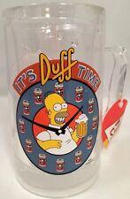 "Rare 2002 Homer Simpson & Duff Beer Time Freezer Mug ""It's Duff Time"" 14 oz"