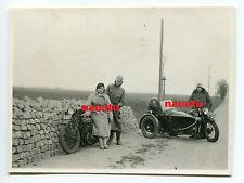 Original Foto Motorrad Triumph mit Beiwagen