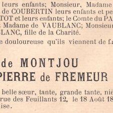 Marie Louise Alice De La Pierre De Fremeur Emile Gaborit De Montjou Poitier 1895