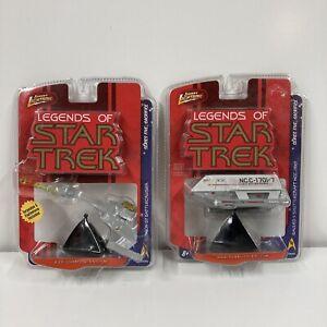 LOT x2 JOHNNY LIGHTNING legends of star trek die cast galileo II klingon D7 toy