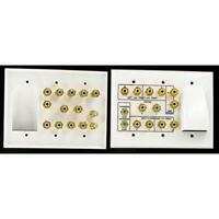 6.2 White Wall Plate -Speaker & Woofers With Bulk Cable