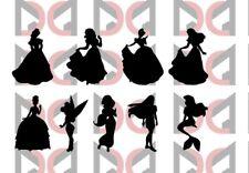 Lot de 9 Princesses Disney Autocollant Vinyle Verre Vin Stickers beaucoup de couleurs