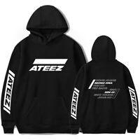 Kpop ATEEZ Hoodie Korea A TEEnager Z Concert Unisex Cap Sweatshirts Sweater Gift