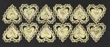 alte Dresdner Pappe Ornamete Herzen Hearts gold - DRESDEN ORNAMENTS
