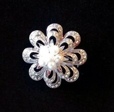 Fashion Women's Jewelry Brooch/Pin Vintage Silver Ladies Pearl